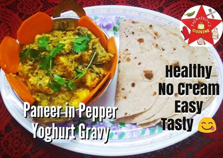 Paneer in Pepper Yoghurt Gravy