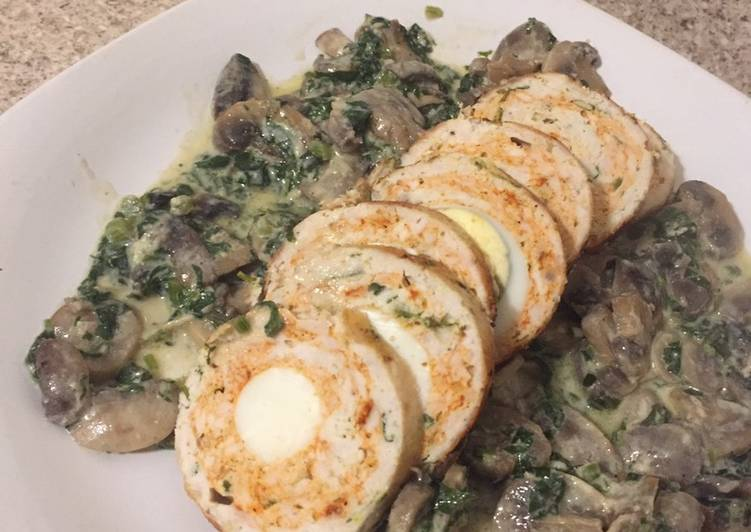 Easiest Way to Prepare Perfect Chicken roulade with mushroom sauce