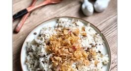 Hình ảnh món Tuần 1:Xôi chim bồ câu nấu bằng nồi cơm điện