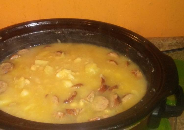 Recipe: Tasty Bean, Potato,Onion, Sausage Soup