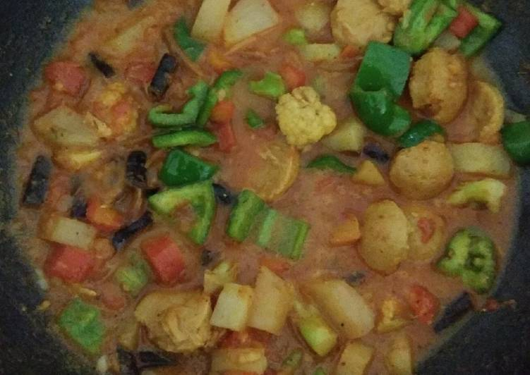 Simple Way to Prepare Speedy Mixed vegetable curry