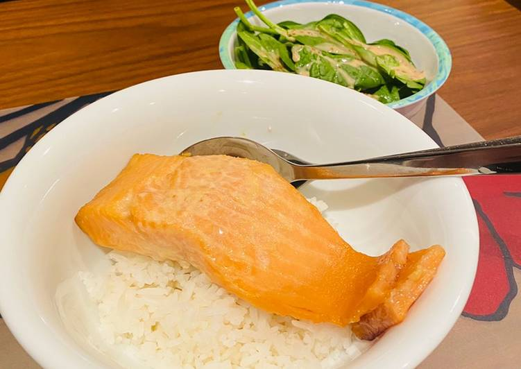 Recipe of Quick Baked miso salmon