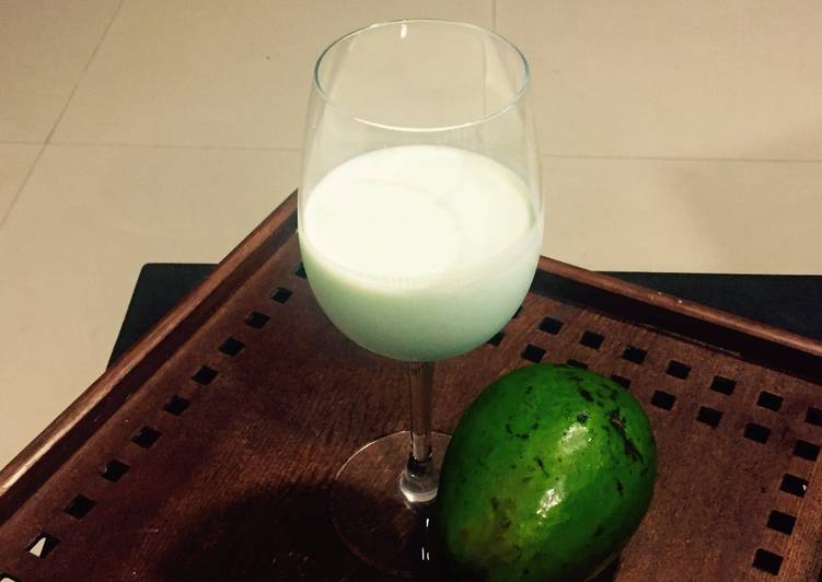 Steps to Prepare Perfect Double `A ' health treat. Avacado shake in Almond Milk