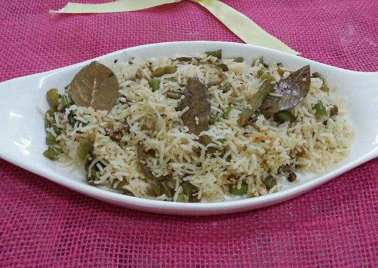 Simple Way to Make Speedy French Beans Pulao..#wecare