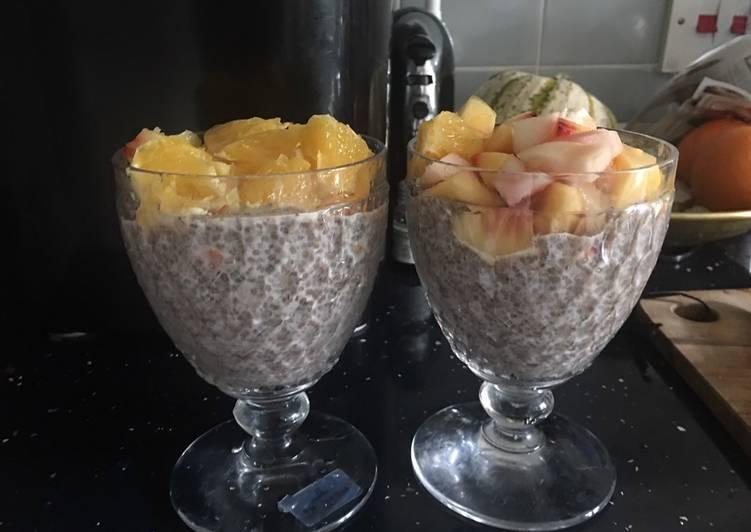 Chia seed pudding - (5 min+overnight soak)