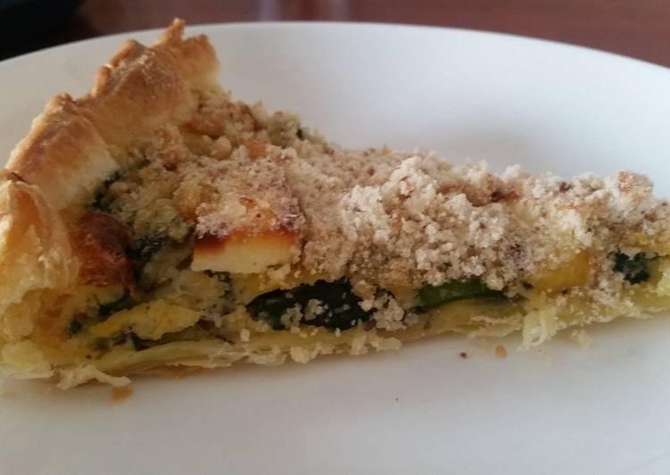 recette Tarte crumble de courgettes délicieux