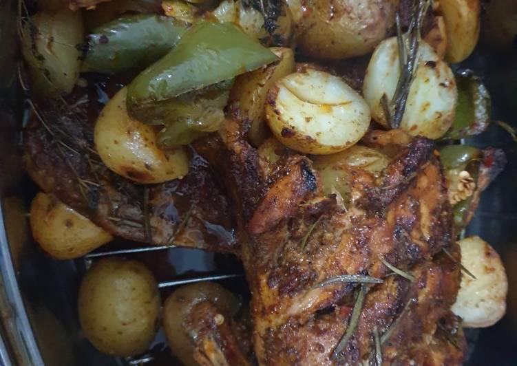 Harrisa and rosemary chicken
