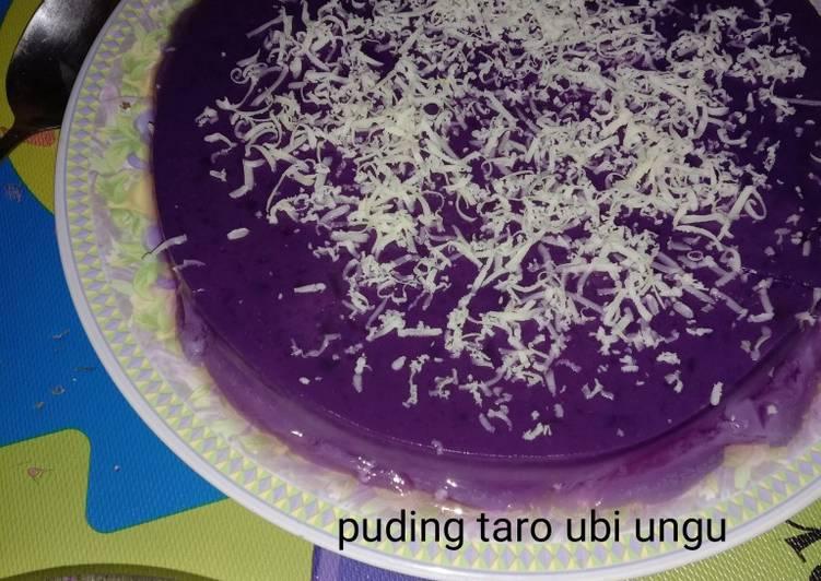 Puding taro ubi ungu