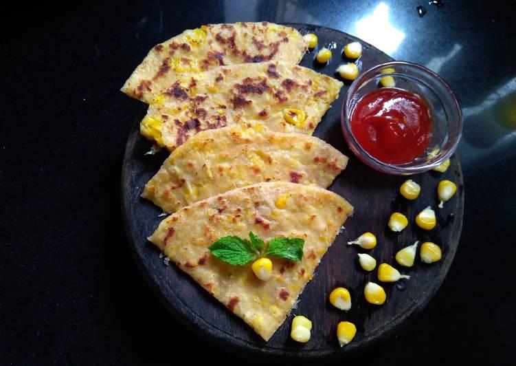 Sweetcorn paratha
