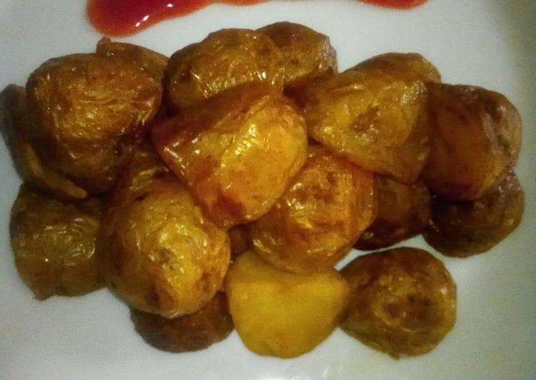 Crispy roasted potatoes