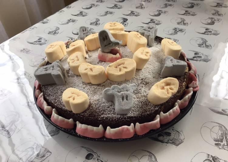 Gâteau d Halloween aux guimauves