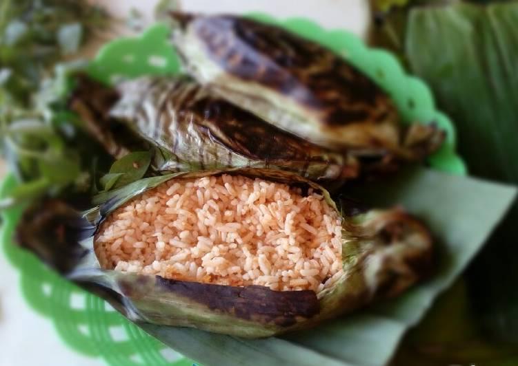 Nasi bakar teflon (pakai nasi sisa)