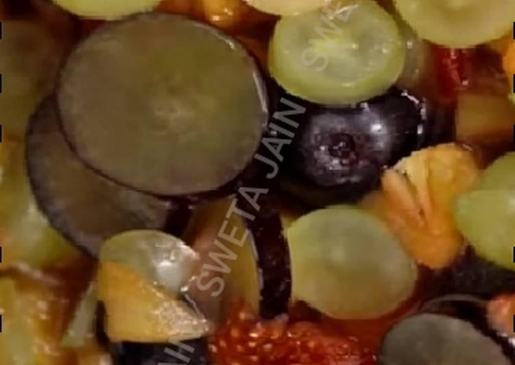 Easiest Way to Prepare Favorite Fruit Salad