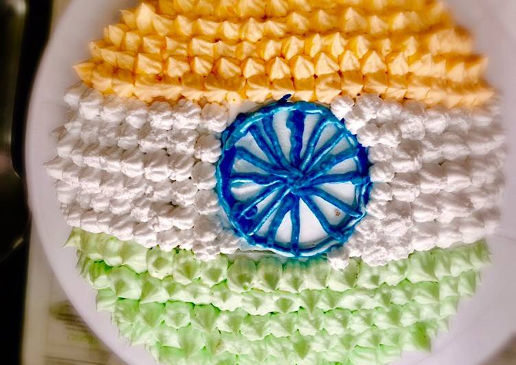 Tricolour- Independence Day special cake