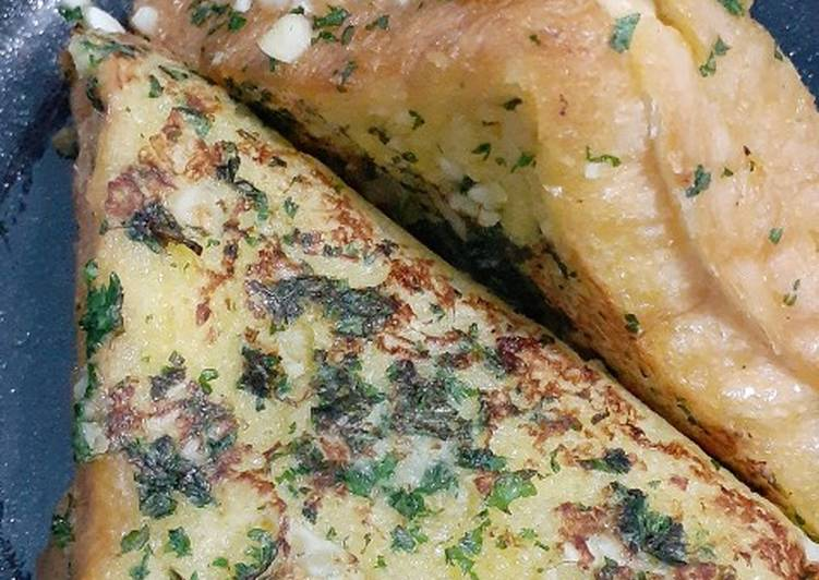 Korean garlic bread toast