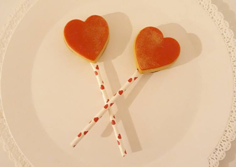 Pop cookies à la confiture St Valentin