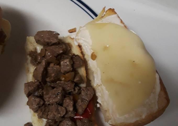 Easy cheese steaks