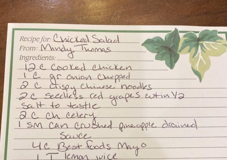 Simple Way to Make Speedy Chicken Salad