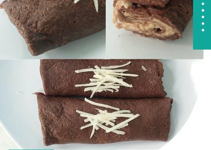 Cara Membuat Dadar Gulung Coklat isi Keju – DEBM…