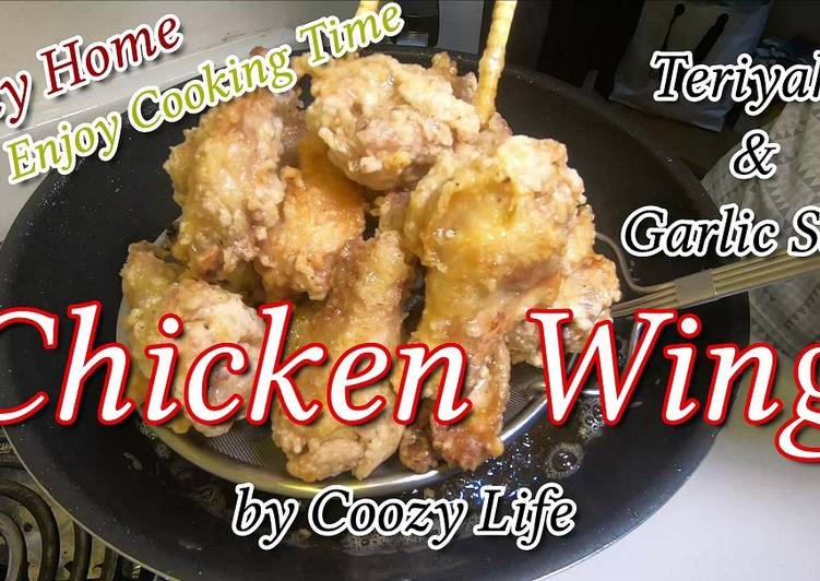 Steps to Make Speedy Japanese Chicken Wing Dish / Easy Teriyaki & Garlic Salt