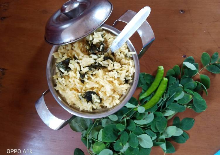 Drumstick leaves rice