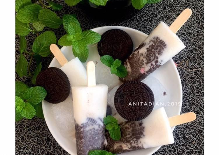 Resep Eskrim Oreo Oreo Popsicles Oleh Anita Dian Cookpad