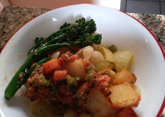 How to Prepare Appetizing Louie's meatless Bolognese casserole: )