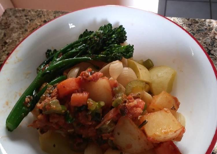 Louie's meatless Bolognese casserole: )
