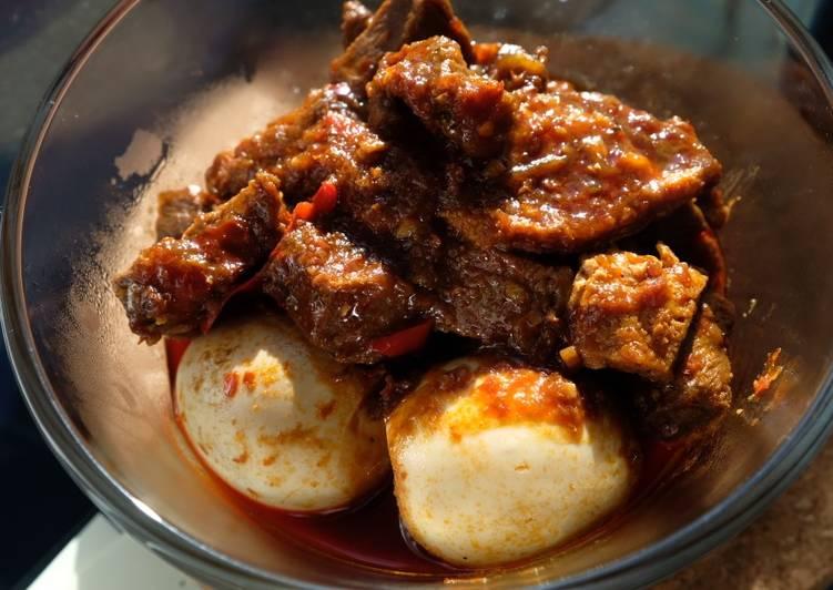 Recipe: Delicious Balado Beef and Egg