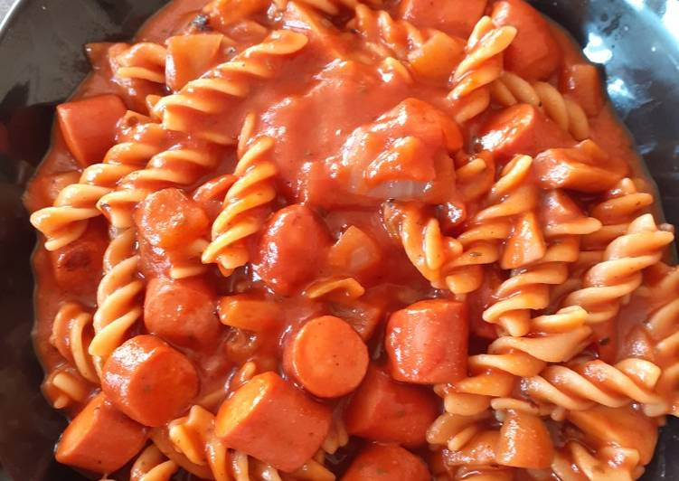 One Pan Hot Dog Pasta-Gluten, Wheat and Dairy Free