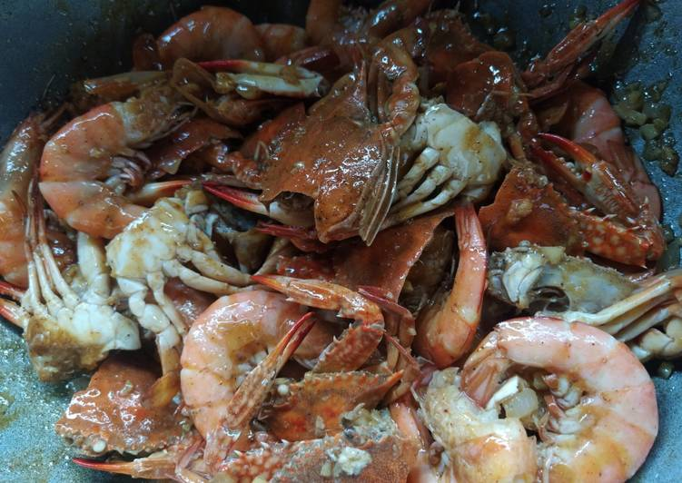 Recipe: Perfect Hipon at Alimasag with Spicy Sauce
