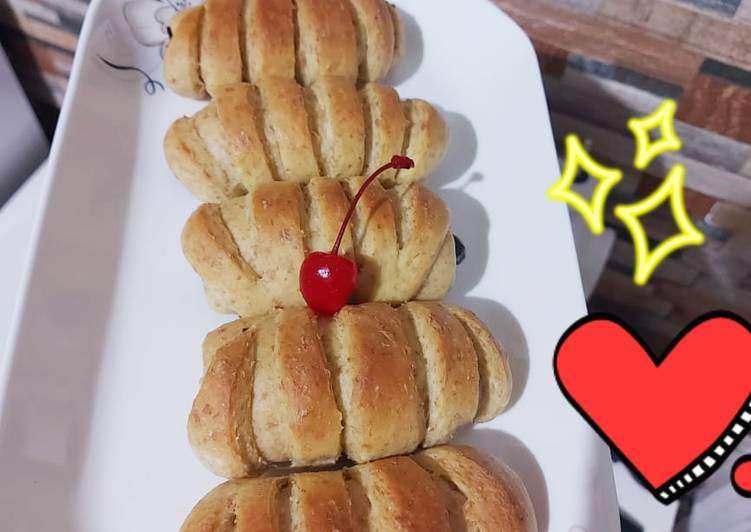 120. Roti Pisang Coklat Tanpa Ulen