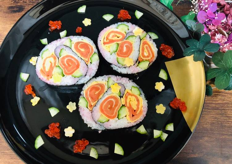 Easiest Way to Prepare Yummy Japanese Spiral Sushi Ⅱ