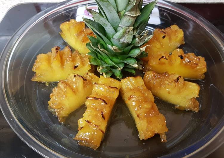 Step-by-Step Guide to Make Most Popular My Caramel & Rum flavoured pineapple Dessert 😘