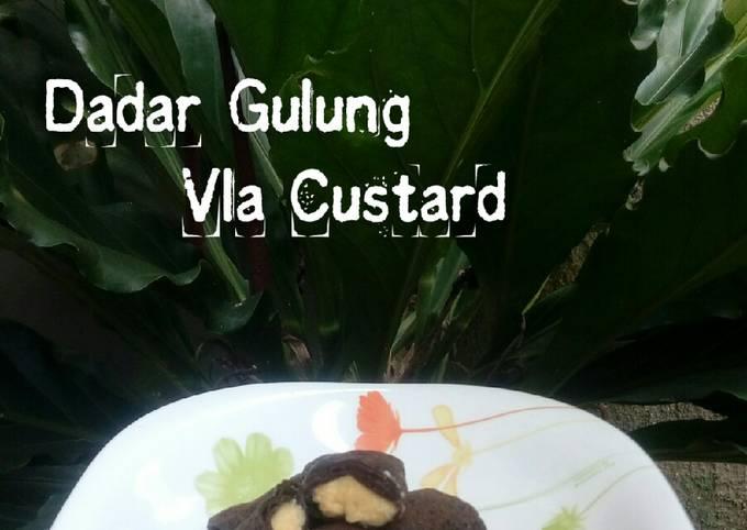 Resep Dadar Gulung Coklat Vla Custard yang Lezat Sekali
