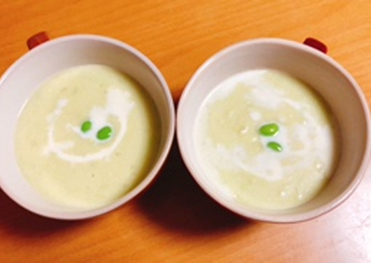 Easiest Way to Cook Tasty Potato and Green Soybeans Potage
