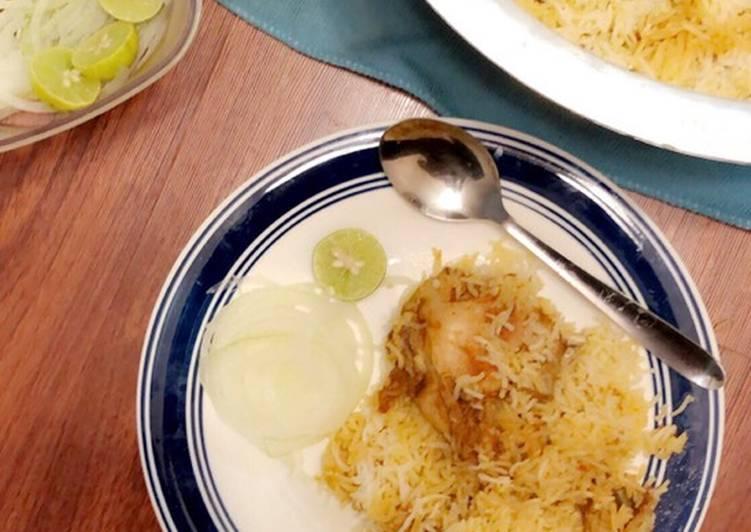 Recipe of Homemade Hyderabadi chicken biriyani