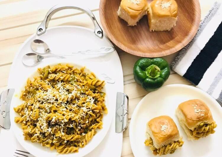 Step-by-Step Guide to Prepare Award-winning Pav Bhaji Flavored Pasta-Fusion Fussili Pasta