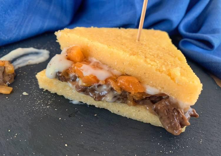 Recipe: Tasty Tramezzino di Polenta con Porcini, Zucca e Besciamella
