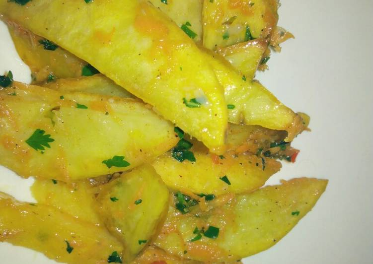 Easiest Way to Prepare Award-winning Baked Potato Wedges #localfood_eldoret