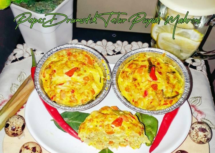 Pepes Paha Ayam Telur Puyuh Makaroni