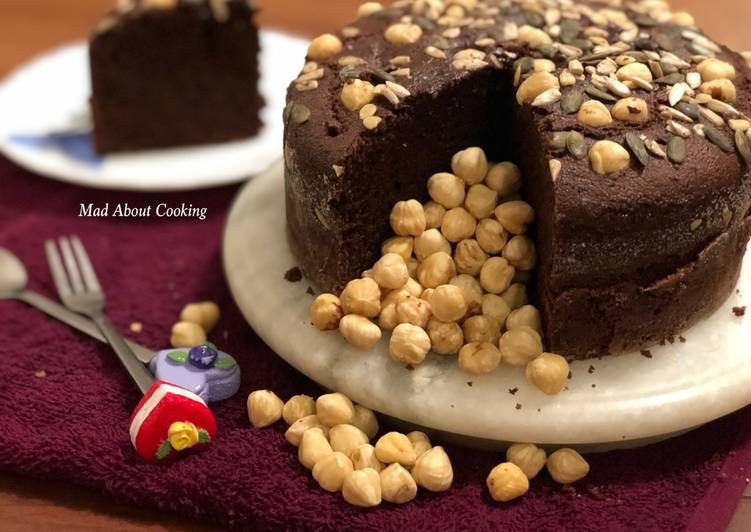 Hazelnut Whole Wheat Rava Chocolate Cake – Cooker Cake Recipe