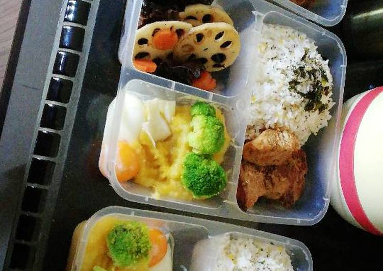 Healthy Pork Bento Set