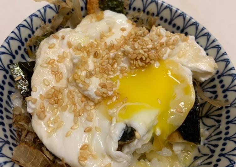 Recipe of Ultimate Japanese Yam Poached egg rice #ukeas