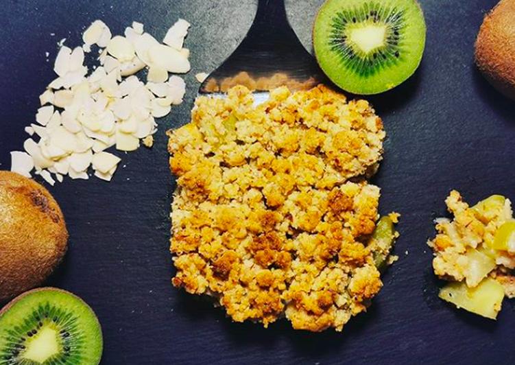 Crumble pomme amande kiwi
