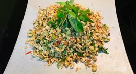 Hình ảnh món Nấm đậu xúc bánh tráng (Hến xúc bánh tráng chay)