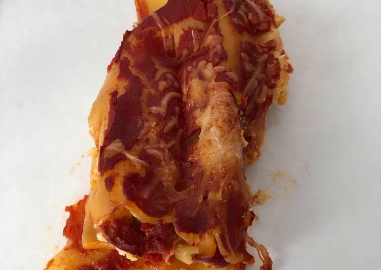 Cannelloni à la ricotta, poivron et chorizo