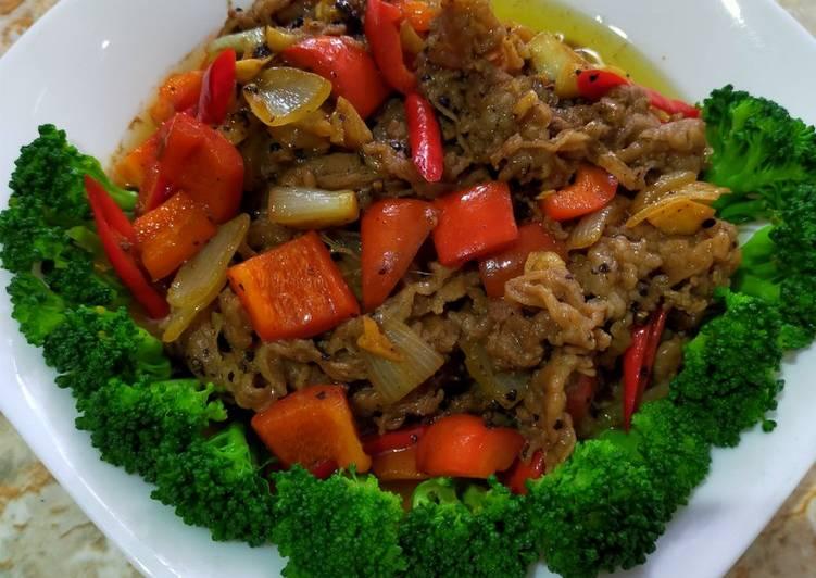 Beef slice saus blackpaper