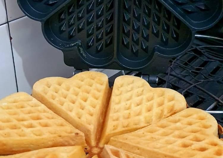 Waffle keju lembut
