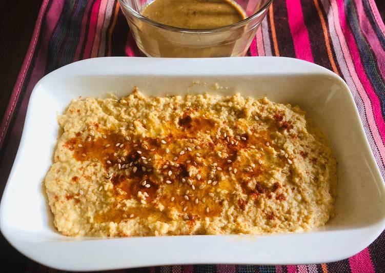 Hummus con y sin tahini